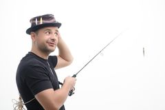 Fishing is always pleasure Stock Image