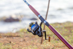 Fishing pole Royalty Free Stock Photography