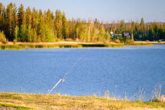 Fishing pole Royalty Free Stock Photography