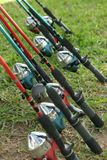 Fishing poles Royalty Free Stock Images