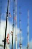 Fishing Poles Stock Photography