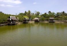 Fishing pond Royalty Free Stock Image