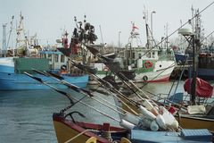 A fishing port Royalty Free Stock Photo