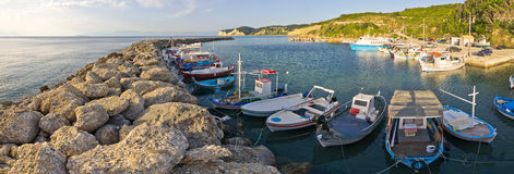 Fishing port in Agios Stefanos, Corfu, Greece Stock Image
