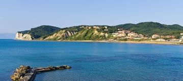 Fishing port in Agios Stefanos, Corfu, Greece Stock Photography