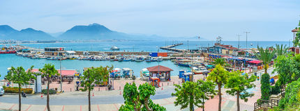 The fishing port of Alanya Royalty Free Stock Photos