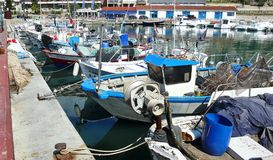 Fishing port of Arenys de Mar Royalty Free Stock Photography