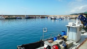 Fishing port of Arenys de Mar Royalty Free Stock Images