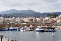 Fishing port of Arenys de Mar, El Maresme, Royalty Free Stock Images