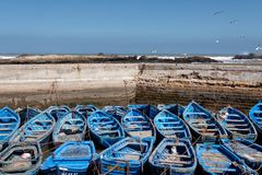 Fishing port in Essaouira, Morocco 2 stock images