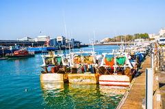 Fishing port of Boulogne Royalty Free Stock Images