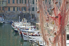 In the fishing port of Camogli Royalty Free Stock Image