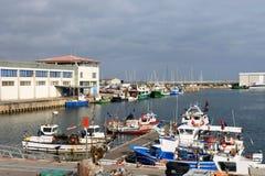 Fishing port of Canet de Mar, El Maresme, Royalty Free Stock Photos