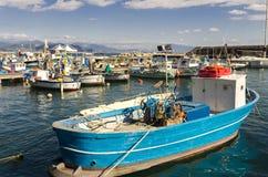 Fishing port in Cetara, Amalfi Coast royalty free stock photos