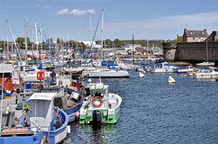 Fishing port of Concarneau in France Stock Image