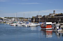 Fishing port of Concarneau in France Stock Images