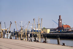 Fishing port Cuxhaven. In Germany stock images