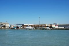 Fishing port, El Puerto de Santa Maria. Royalty Free Stock Photos