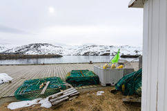 Fishing port equipment in Skarsvag Royalty Free Stock Photo
