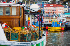 Fishing port of Fish HoekF. In the fishing port of Fish Hoek South Africa Stock Photo