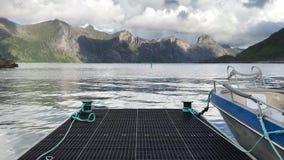 In the fishing port. Mefjordvaer, Senjahopen, Norway stock video footage