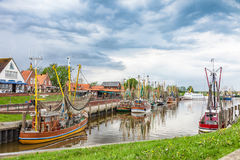 The fishing port of Greetsiel. royalty free stock photo