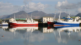 Fishing port in Iceland Royalty Free Stock Photo