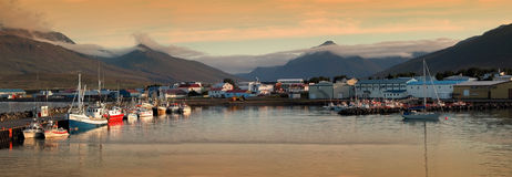 Fishing port in Iceland royalty free stock images