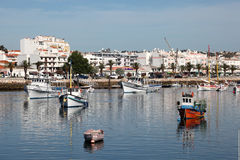 The fishing port of Lagos, Portugal Royalty Free Stock Photos