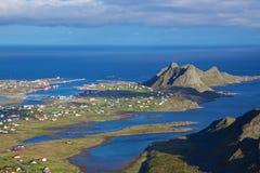 Fishing port on Lofoten Stock Photography
