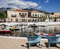 Fishing port in Mani. Greece Royalty Free Stock Photo