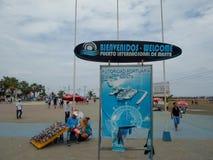 Fishing port in Manta, Ecuador Royalty Free Stock Images