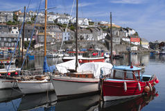 The fishing port of Mevagissey in Cornwall England. The small fishing port of Mevagissey in Cornwall England Stock Images