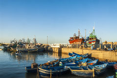 Fishing port in Morocco. Fishing harbor in Essaouira, Morocco Stock Images