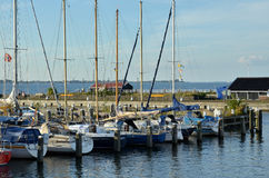 Fishing port in Netherlands Royalty Free Stock Images