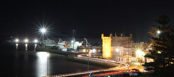 Fishing port at night. Morocco, Es-saouira. Stock Photography
