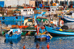 Fishing port. In old Yafo (Israel royalty free stock photos