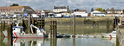 Fishing port of Ouistreham in France Stock Photos