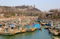 Fishing port of Penglai ,China Stock Photos