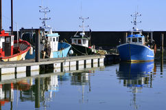 Fishing port of Pornic in France Stock Images