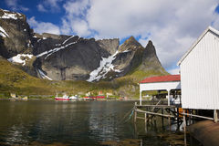 Fishing port in Reine Stock Image