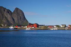 Fishing port in Reine Stock Photography