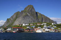 Fishing port in Reine Royalty Free Stock Image