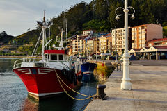 Fishing port of Ribadesella Spain Stock Image