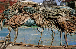 The fishing port ropes Royalty Free Stock Images