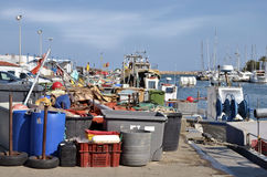 Fishing port of Saint-Cyprien in France Royalty Free Stock Photo