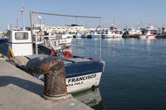 Fishing port of Santa Pola Stock Images