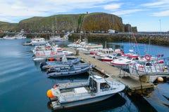The fishing port, in Stykkisholmur Royalty Free Stock Photos