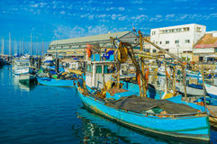 The fishing port Royalty Free Stock Photos