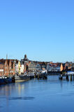 Fishing port of the town Husum along the North Sea, Germany Stock Images